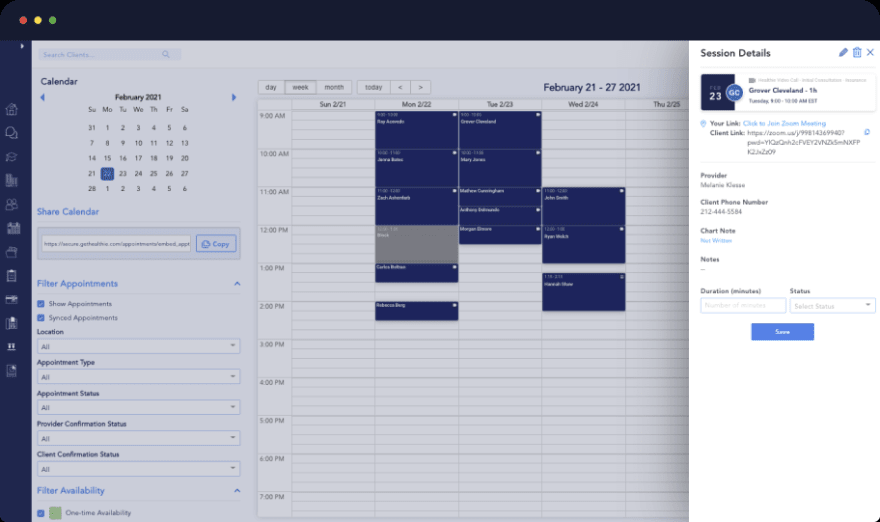 hipaa scheduling solutions