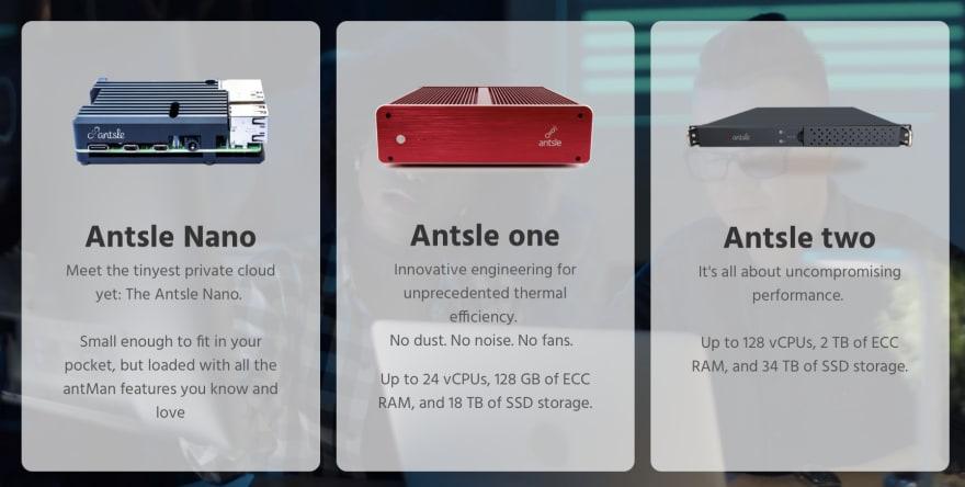 Antsle Hardware Lineup