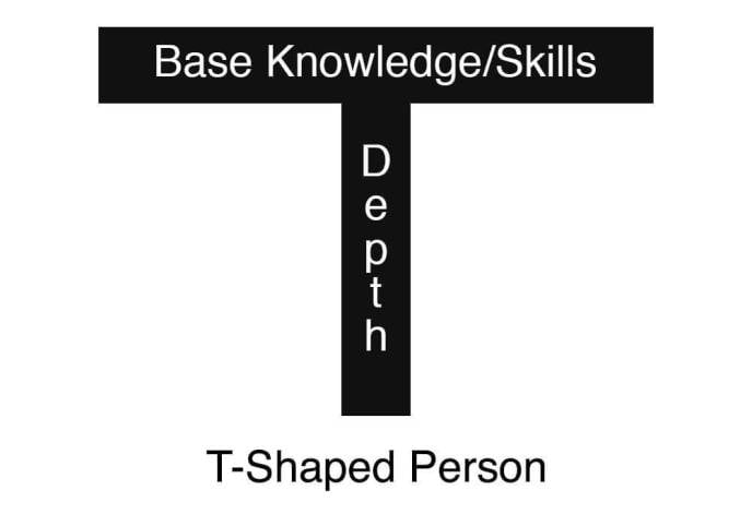 what it is a T-Shaped Developer - The T shaped person