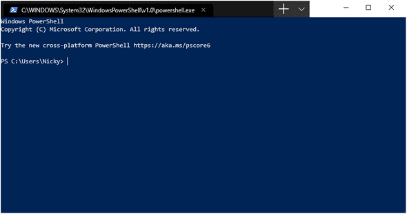 default PowerShell