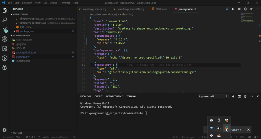 Visual Studio Code setup