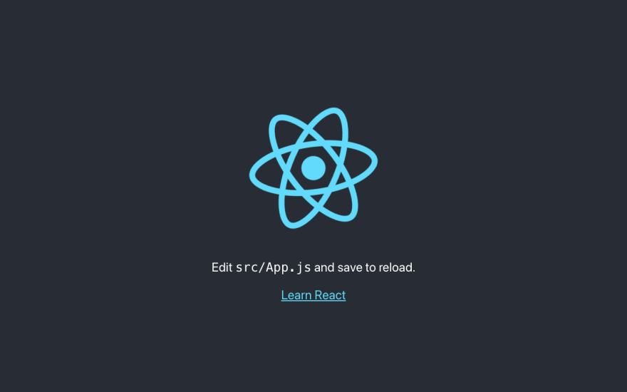 React Start After Install.png