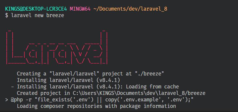 laravel new breeze