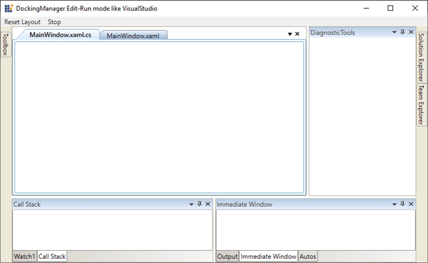 WPF Docking Control in Default Run Mode State like in Visual Studio