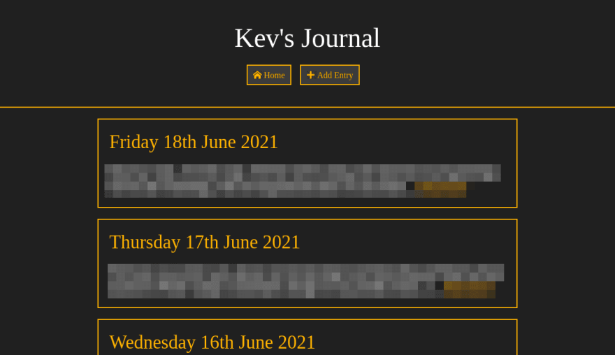 Dark version of my journal theme