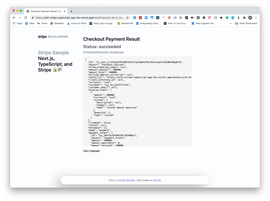 Production Example Payment
