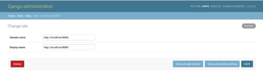 Adding localhost to Sites