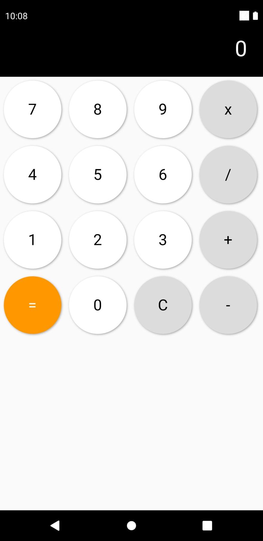 Flutter calculator app