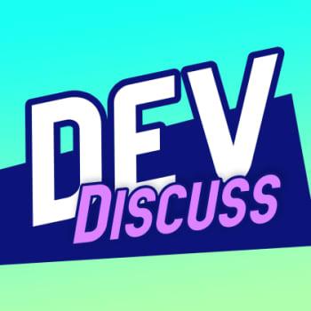 The logo for the DevDiscuss podcast.