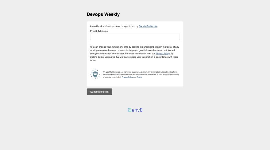 DevOps Weekly Screenshot