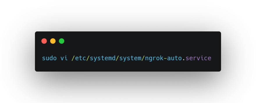 Create a service file