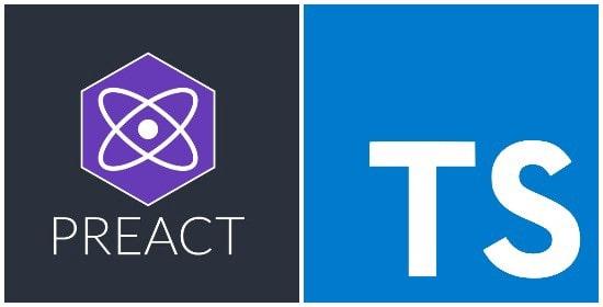 Typescript and Preact logos
