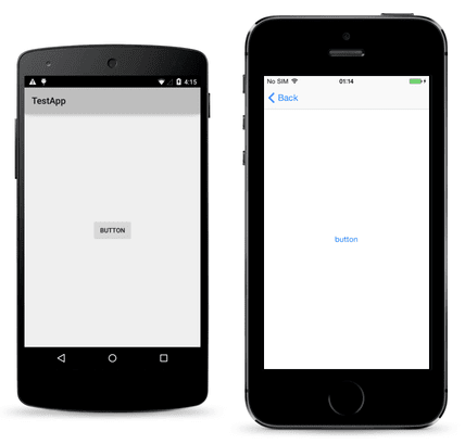 native ios and android buttons