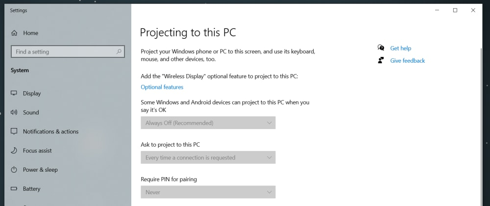 Cover image for How to use your Windows 10 device as a Wireless Display.