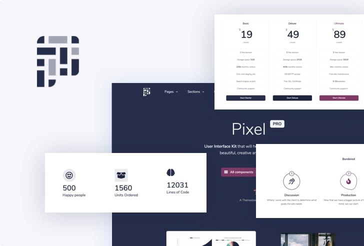 Pixel Pro Bootstrap 5 UI Kit
