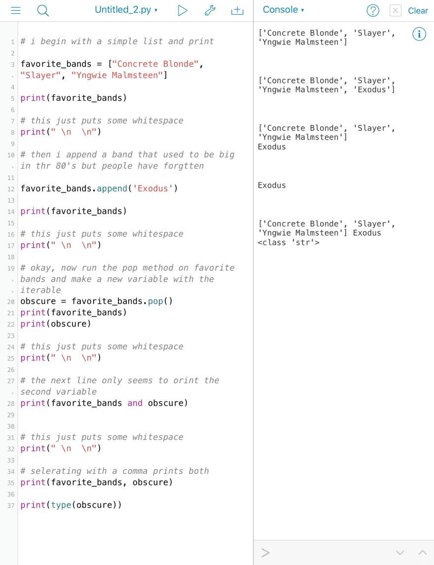 Pythonista on iPad