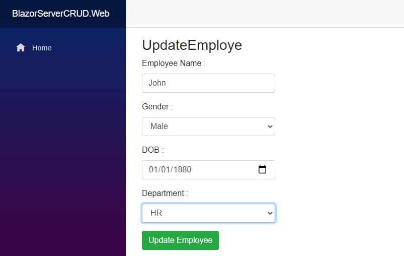 update employee