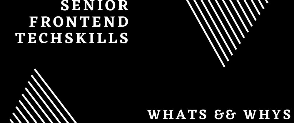 Cover image for The Whats & Whys in a FE Senior position