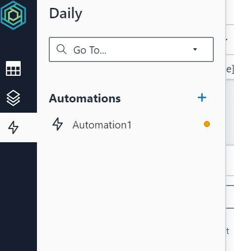 Automations menu