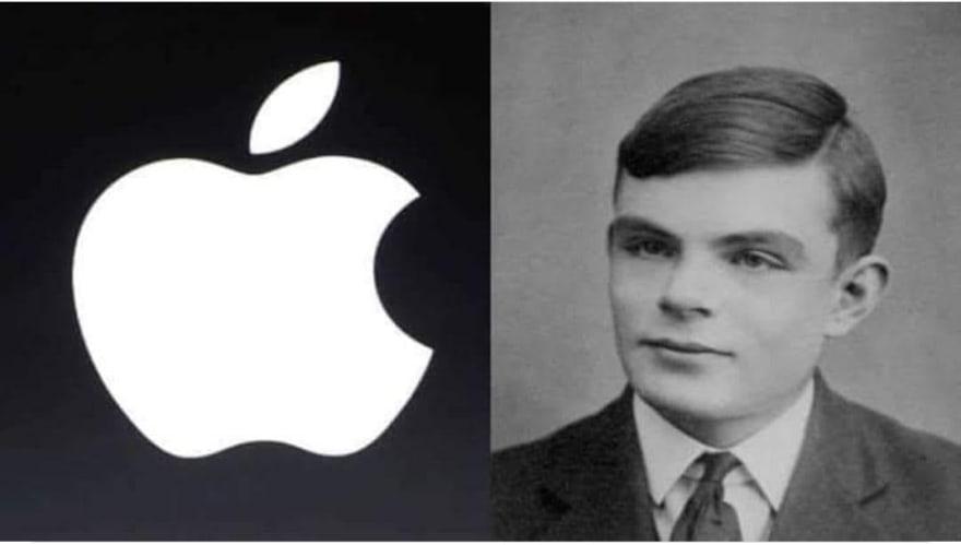 Apple Logo - Alan Turing