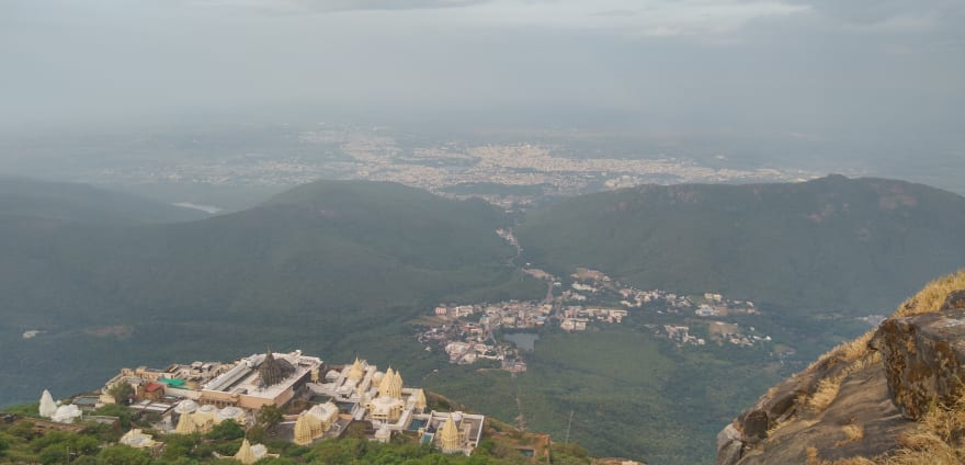 Picture from top of Girnar Hills, Gujarat, India