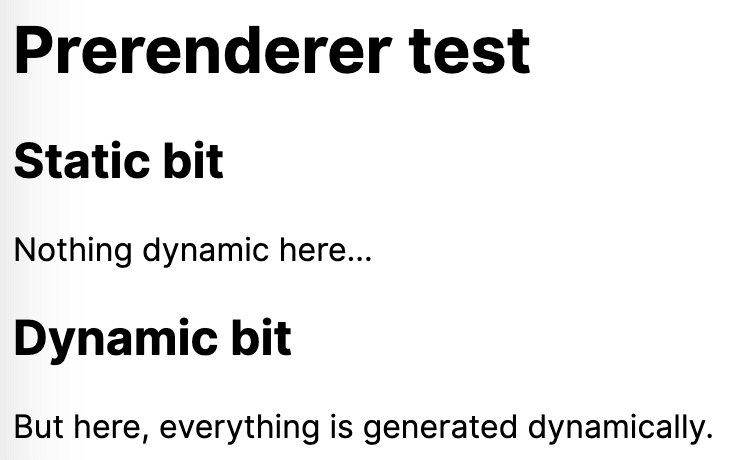 Screenshot of the HTML rendering of the code above, including the dynamically generated content