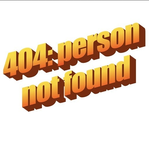 404: Person not found