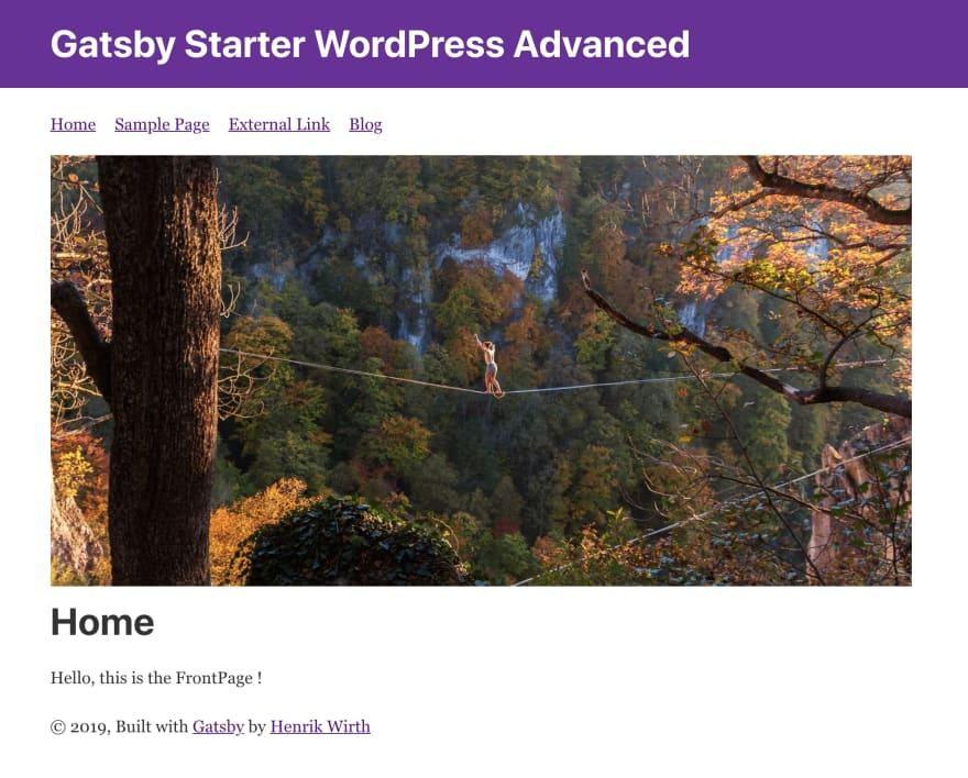 Guide to Gatsby WordPress Starter Advanced - Screenshot
