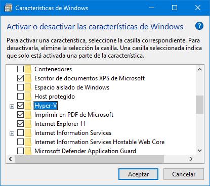 Hyper-V option