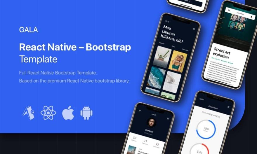 Gala – React Native Bootstrap Template