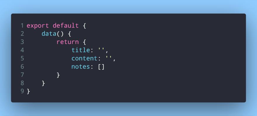 Adding data for two-way binding