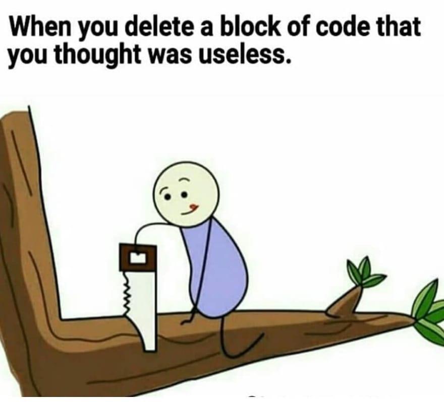 deleting code
