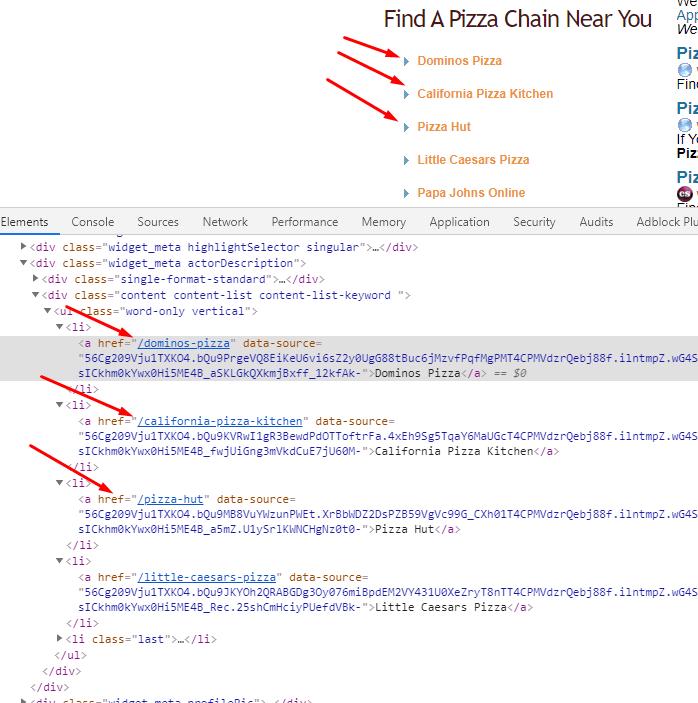 pizza.com links