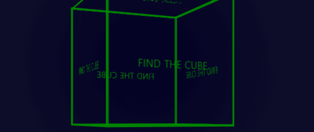Cover image for Find The Cube