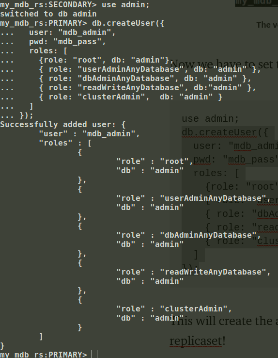 MongoReplicaSetConfigured