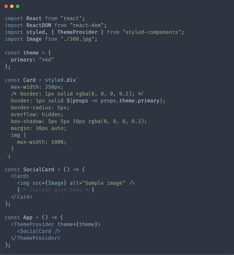 Using a global theme variable