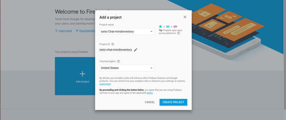 Cover image for IONIC chat with firebase
