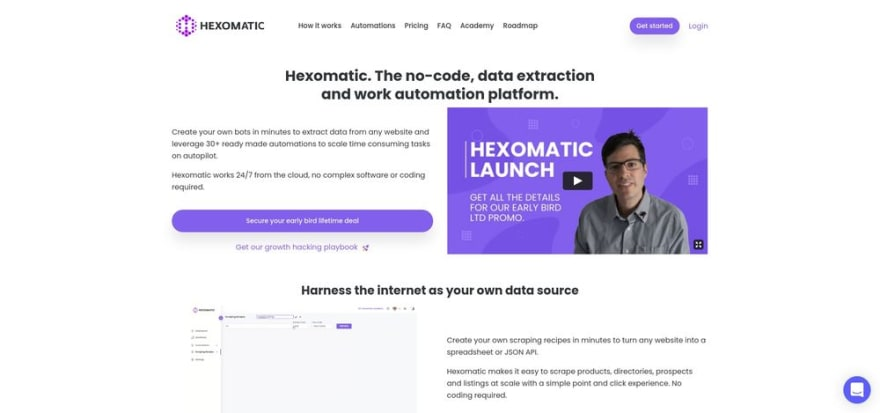 Hexomatic - The no-code, point and click work automation platform