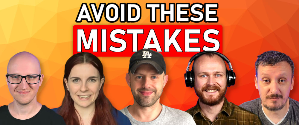 Cover image for Don't make these DevOps MISTAKES! We made them for you so you don't have to