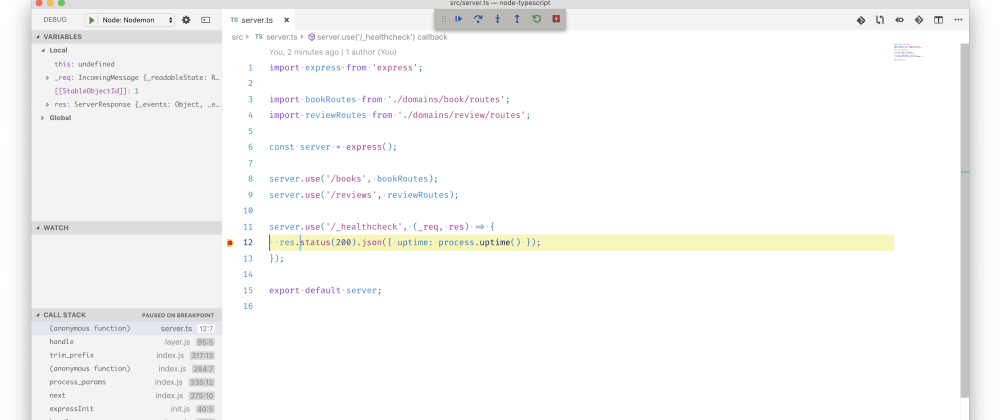 Cover image for Node.js with TypeScript, Debug inside VSCode and Nodemon