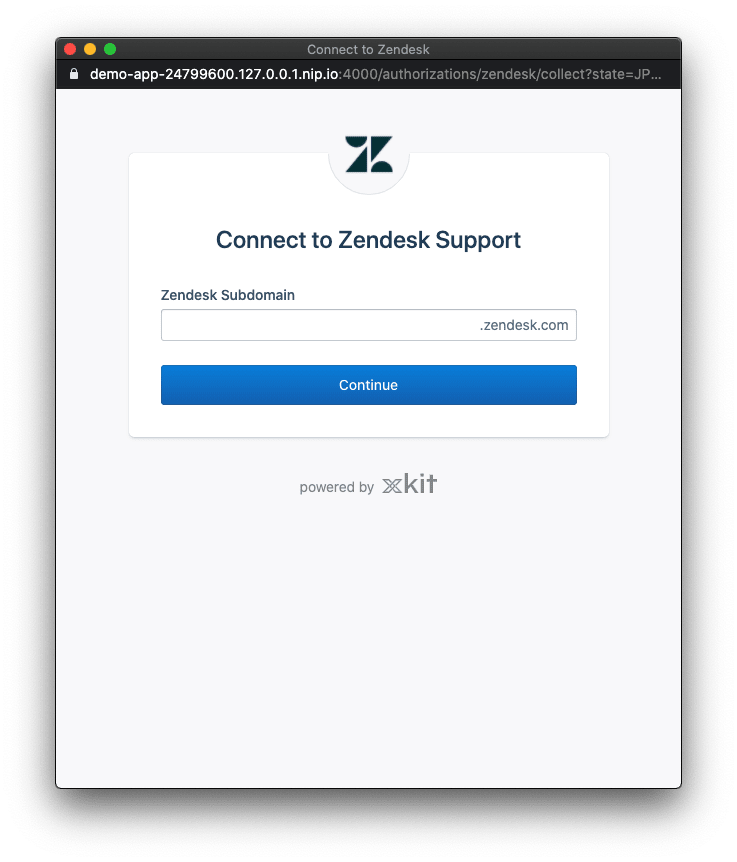 Xkit's Zendesk subdomain collection popup