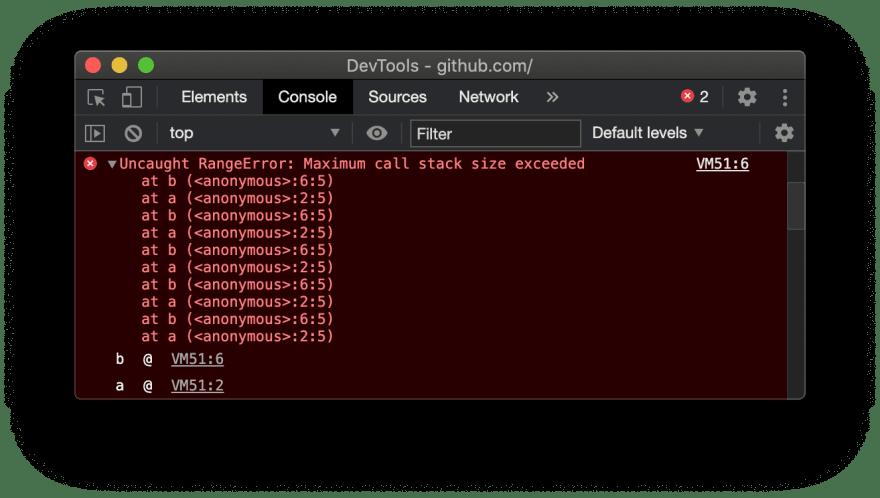 Maximum call stack error
