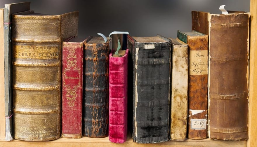 lined-up books