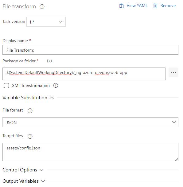 File transform task