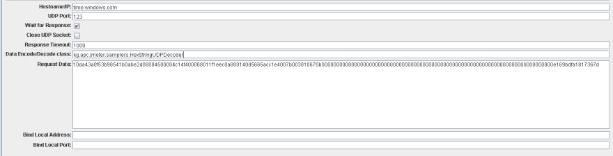 JMeter UDP Request for time.windows.com
