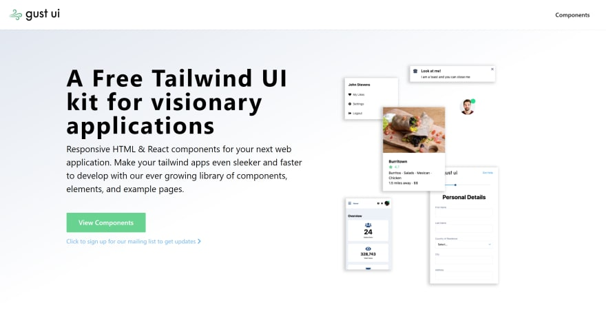 Tailwind components