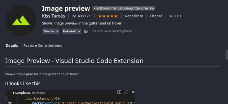 image preview no vscode
