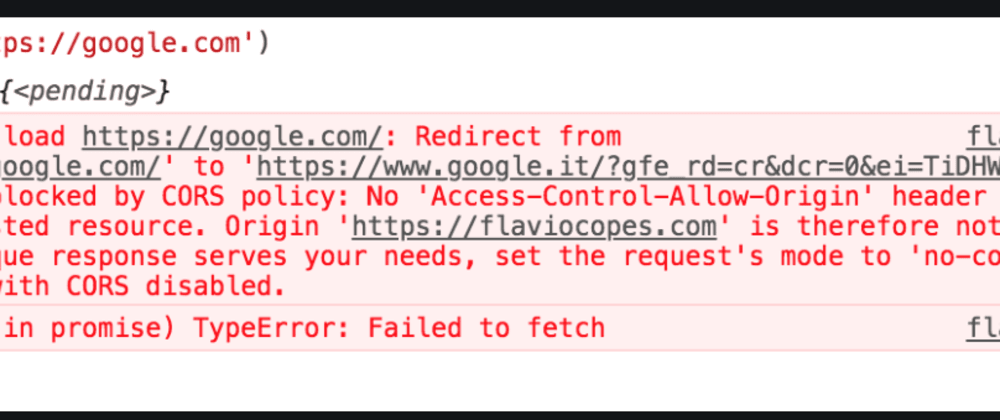 Cover image for Why do we get that silly CORS error?