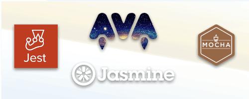 Jasmine, Jest, Ava, Mocha logos