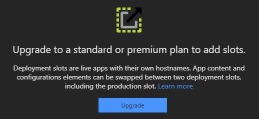 Standard Plan Required Warning